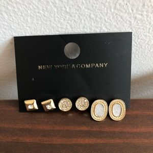 3 pairs of earrings from New York and Company